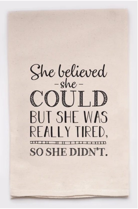Ivory Cotton Kitchen Towel - She Believed