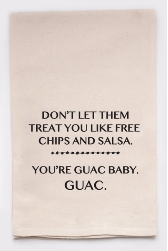 Ivory Cotton Kitchen Towel - Guac
