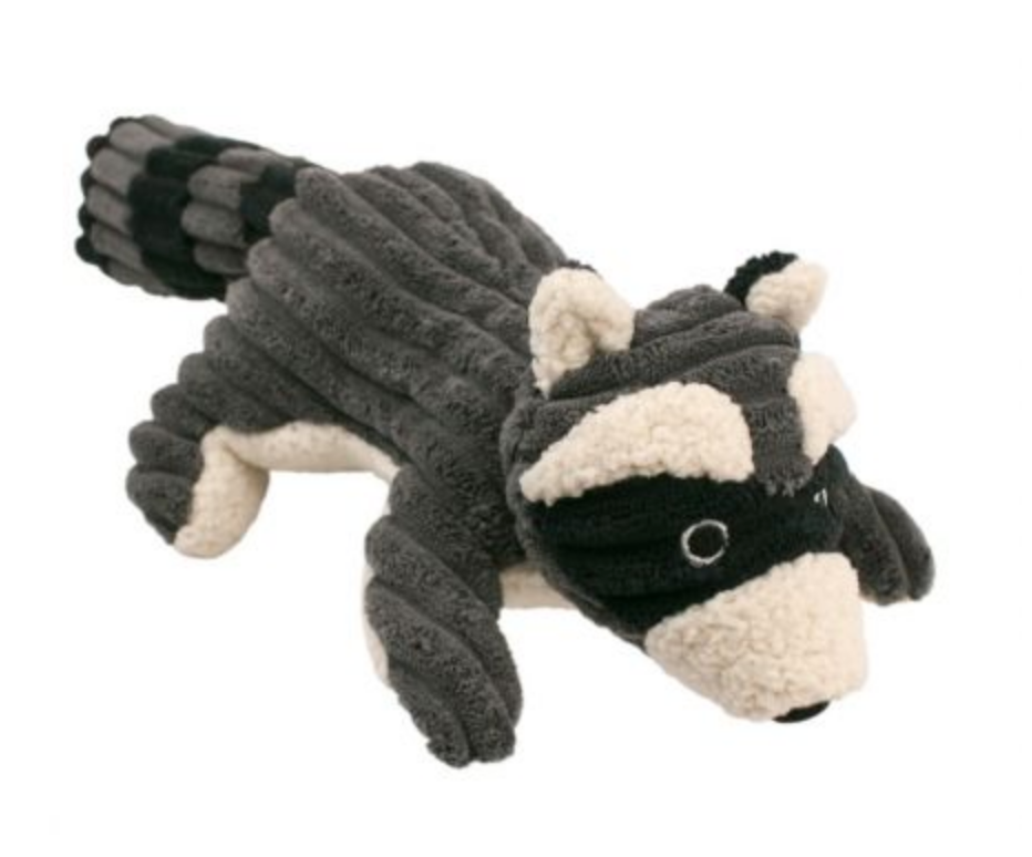 Raccoon w/ Squeaker- Grey