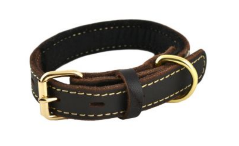 Genuine Leather Dog Collar SM