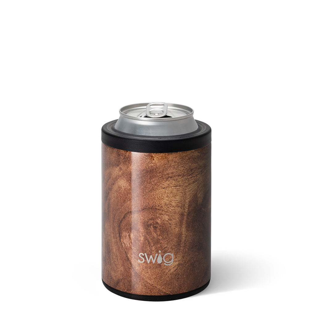 Swig 12oz. Combo Can/Bottle Cooler - Black Walnut