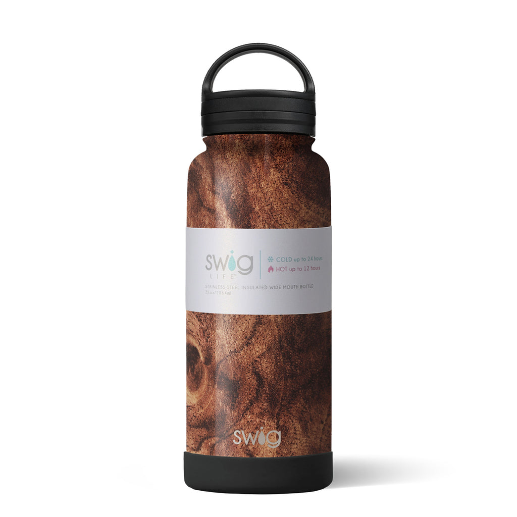 Swig 30oz Bottle with Twist Lid - Black Walnut