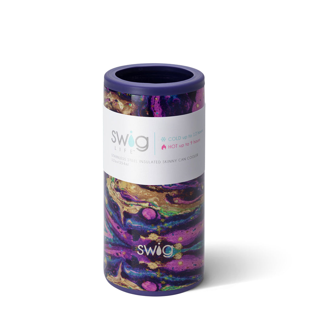Swig Purple Rain 12oz Skinny Can Cooler