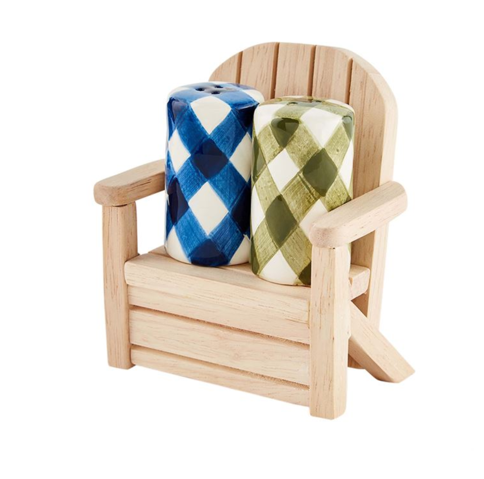 Check Salt and Pepper in Wood Chair Set