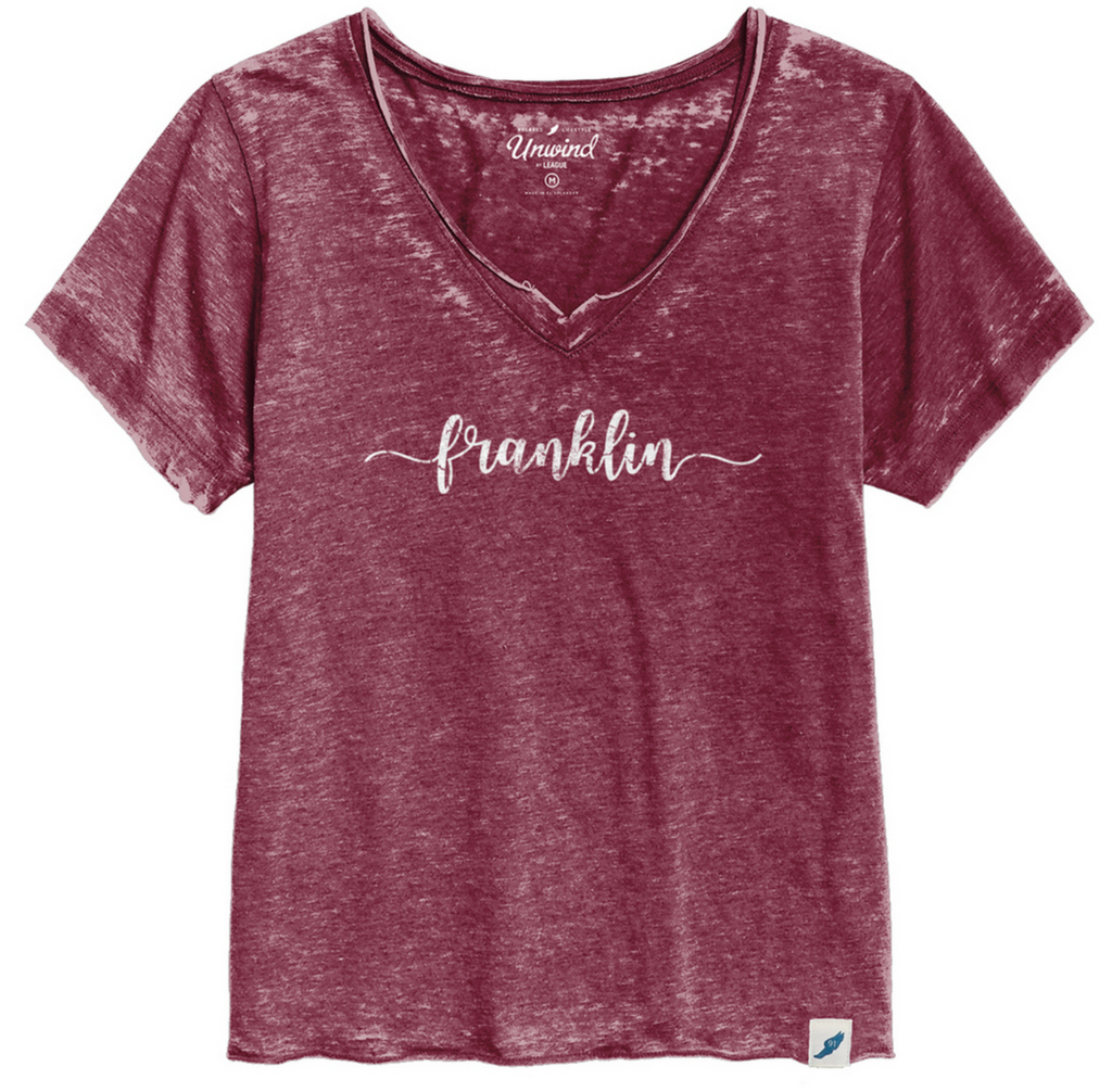 Franklin Burgundy Loose Fit V-Neck