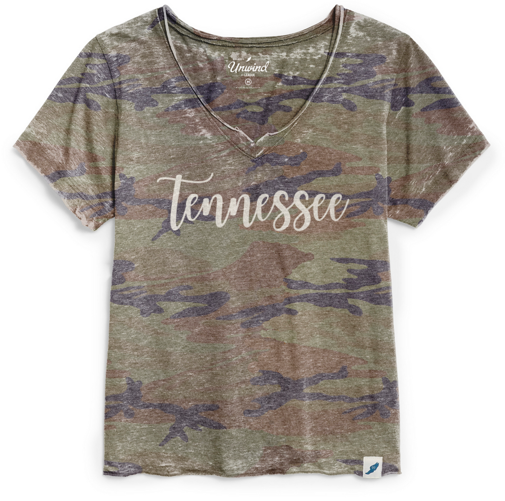 Camo TN Loose Fit V Neck