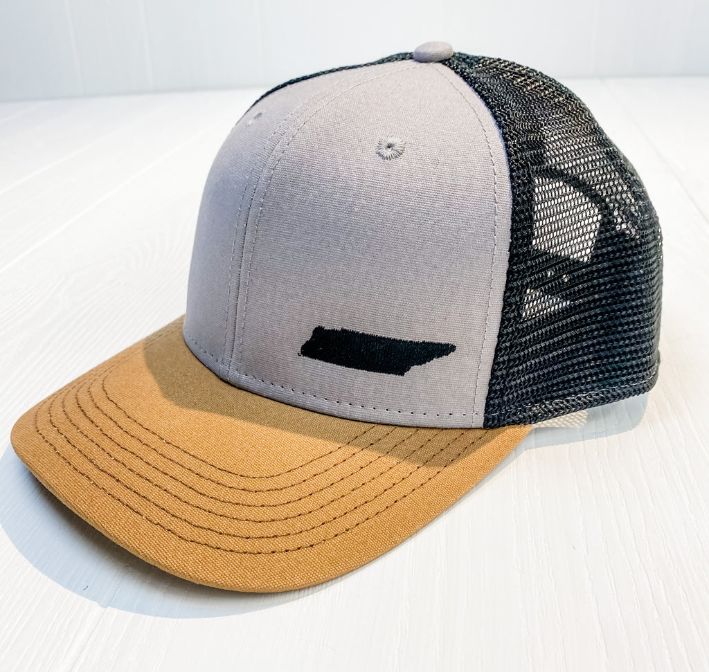 Grey/Carmel/Black TN State Trucker