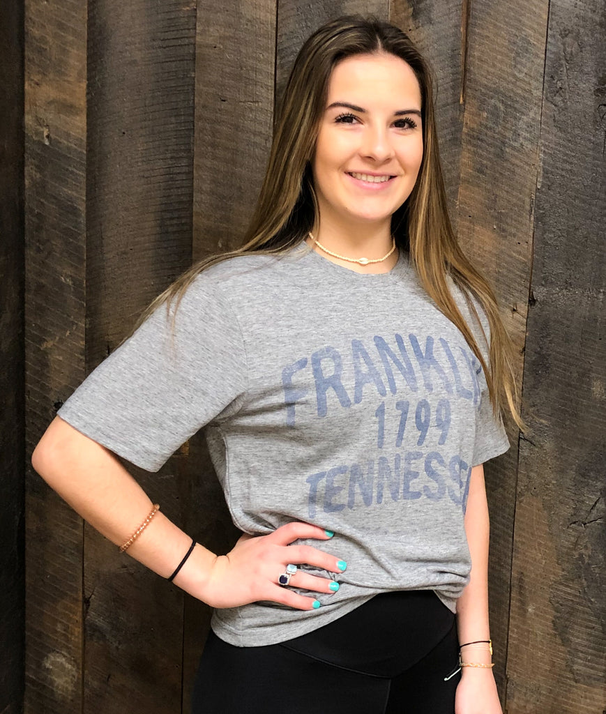 Franklin TN Graphite Reclaimed Tee
