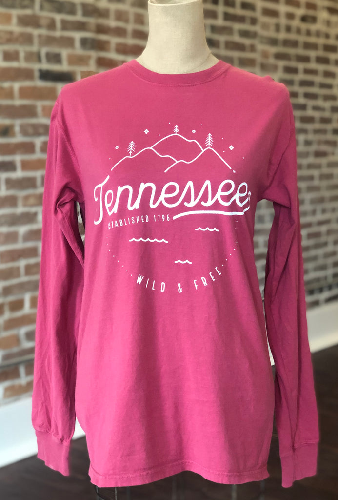 TN Long Sleeve Crimson Tee