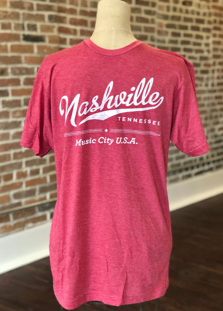 Nashville 'Music City USA' Red Shirt