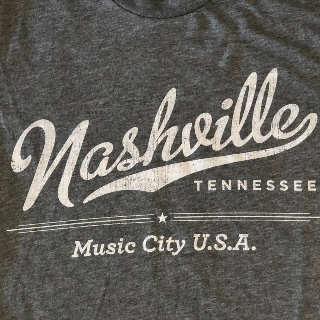 Nashville 'Music City USA' Grey Shirt