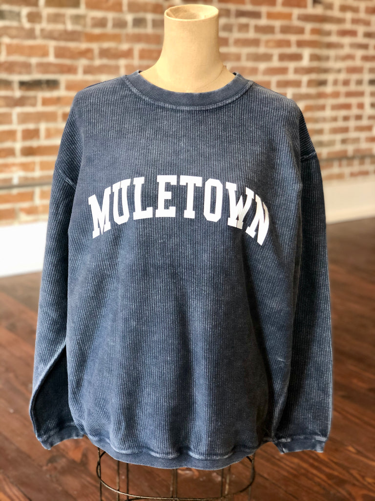 Muletown Corded Sweatshirt Navy