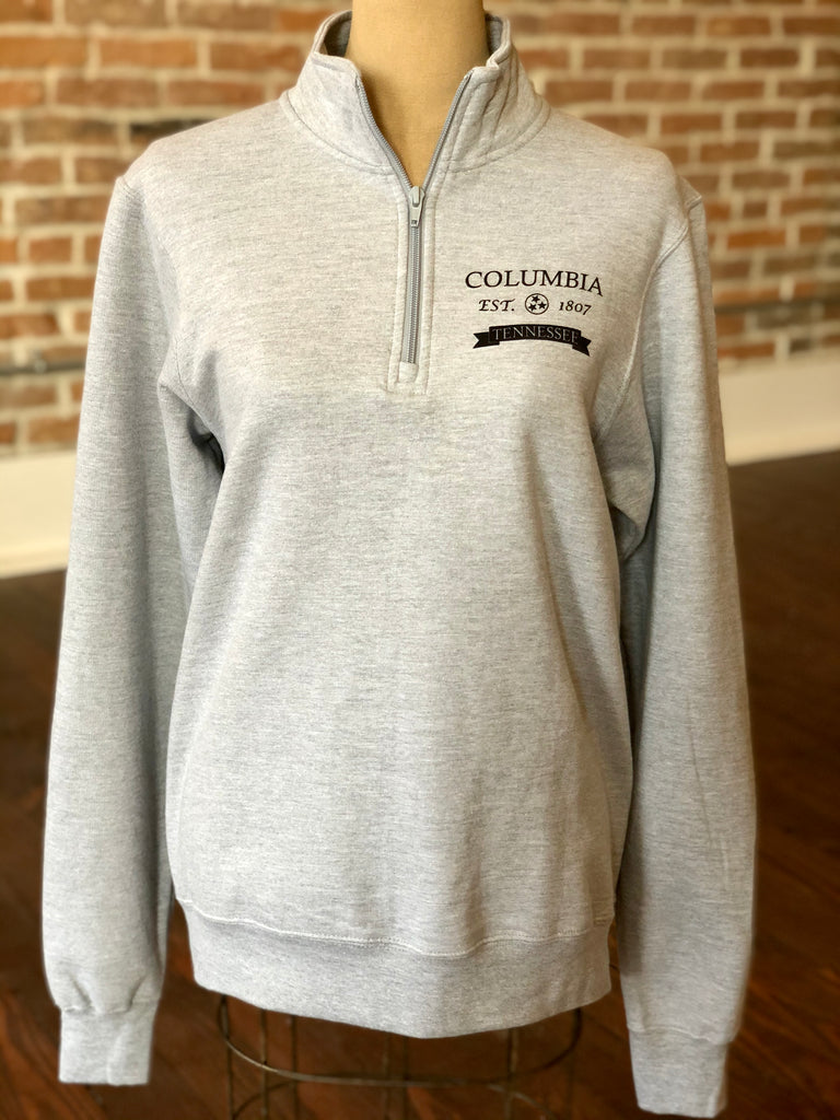 "1/4 Zip ""Columbia TN"" Fleece Pullover"