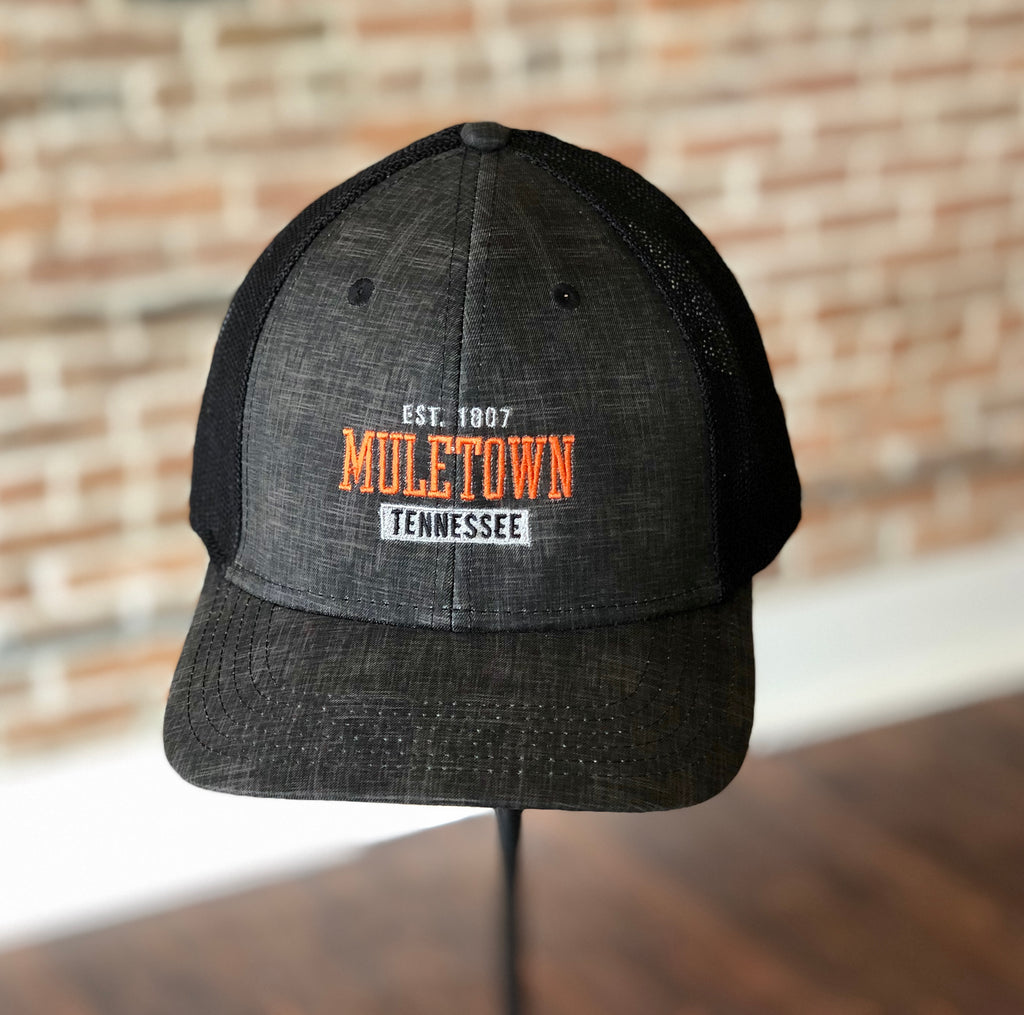 Muletown Fitted Black Trucker Hat