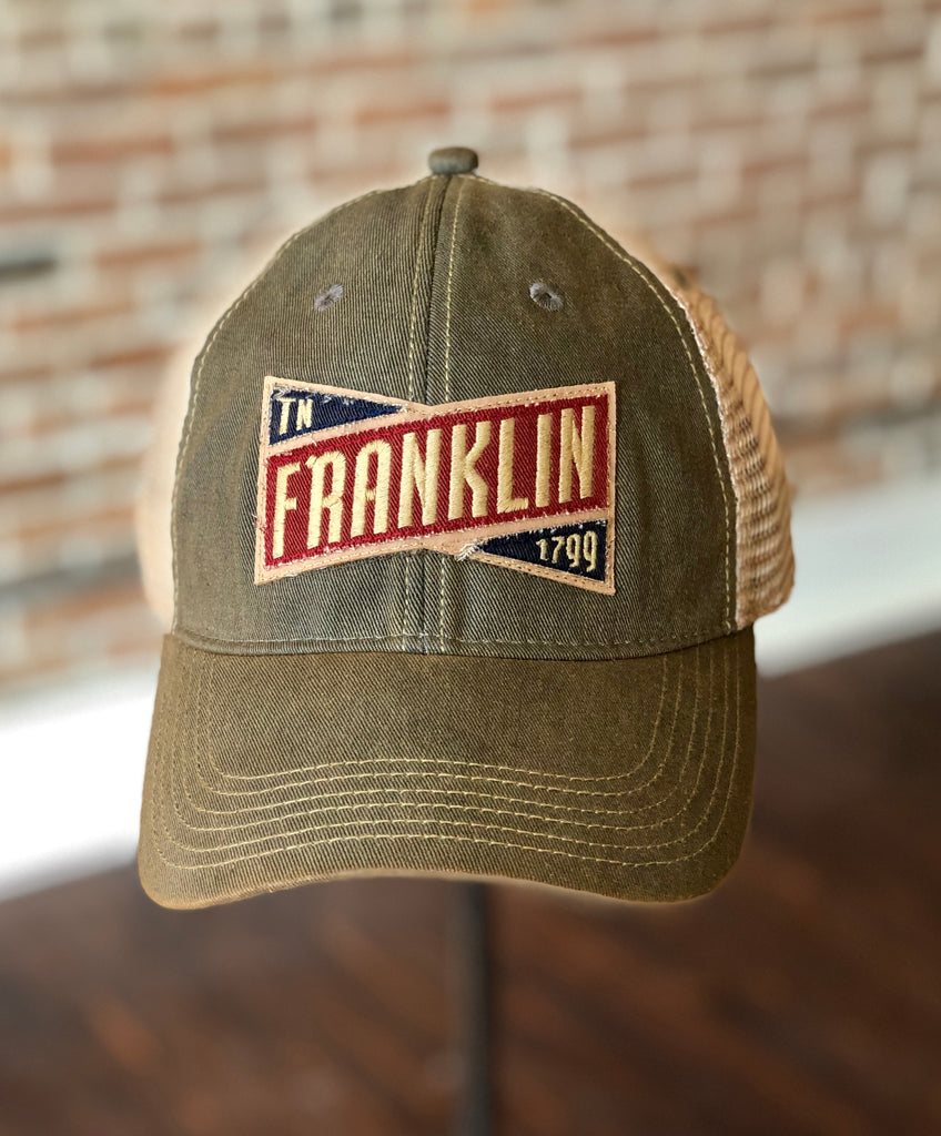Franklin Emblem Stitched Trucker Hat Grey