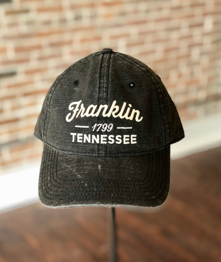 Franklin Black Canvas Stitched Hat