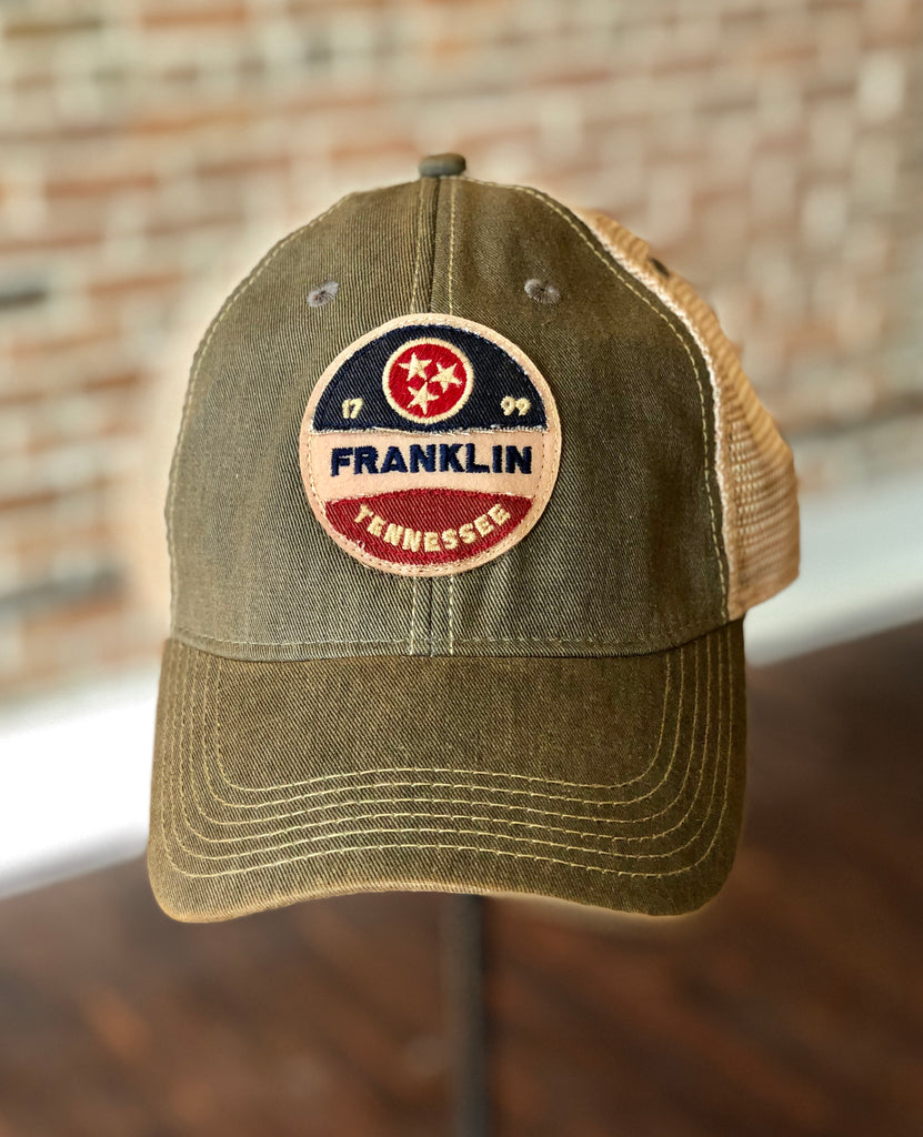 Franklin Tristar Stitched Trucker Hat Grey