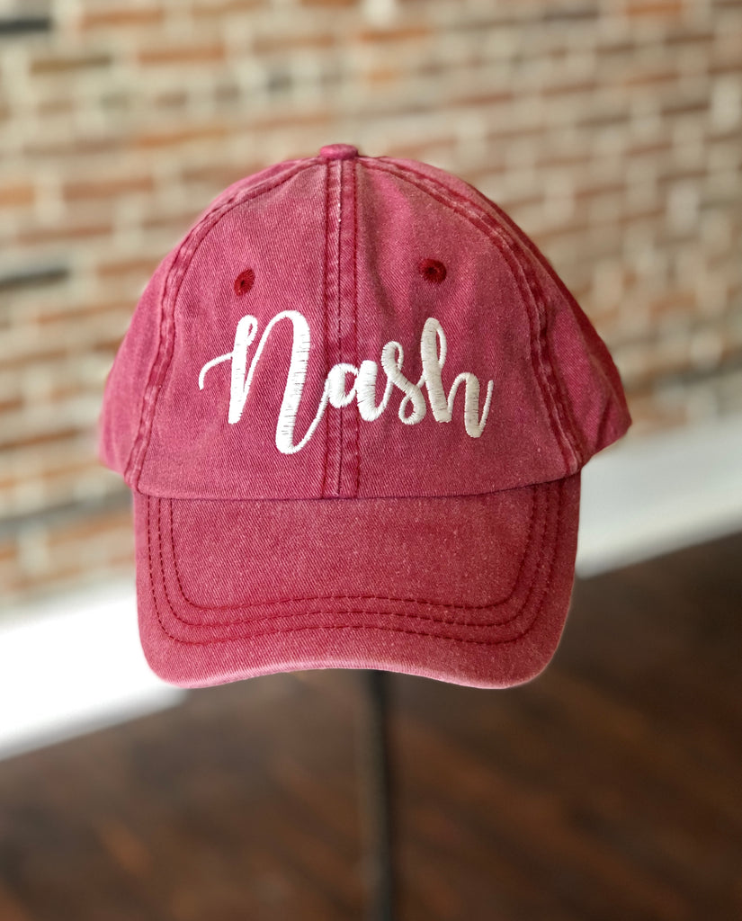 Nash Script stitched canvas hat