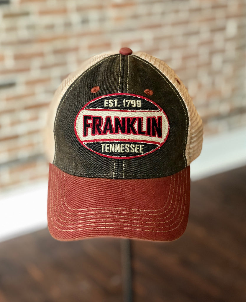 Franklin Oval Black/Cardinal OFA Hat