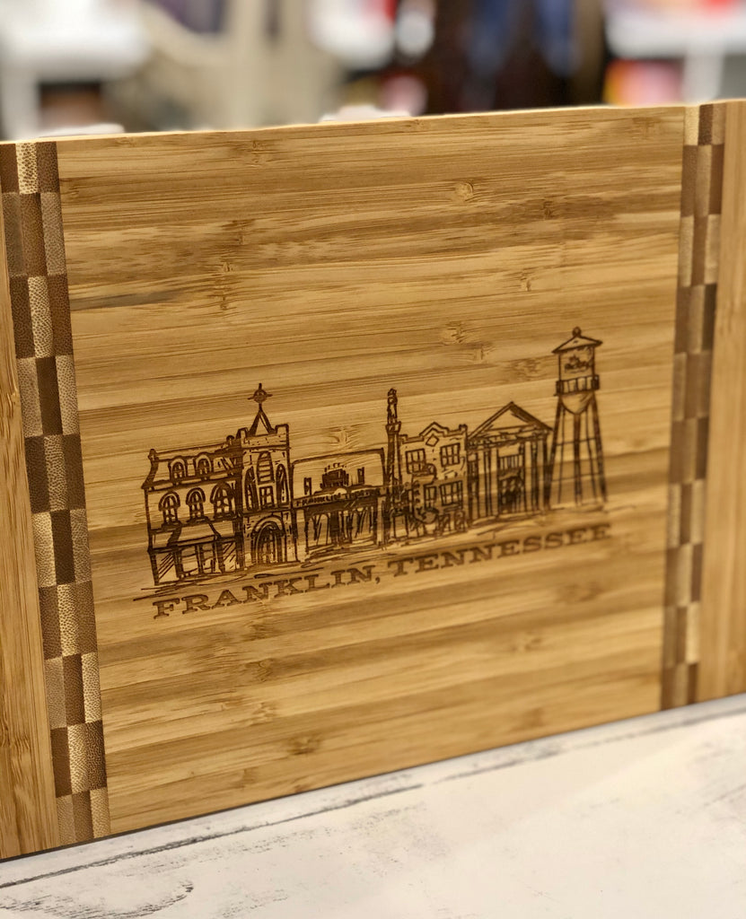 Franklin Cityscape Bamboo Cutting Board