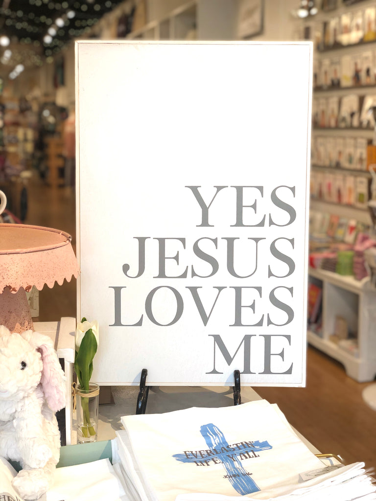 Jesus Loves Me Wood Frame Art