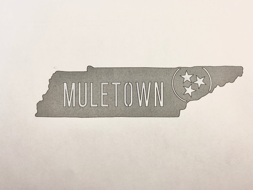 Muletown Metal Sign