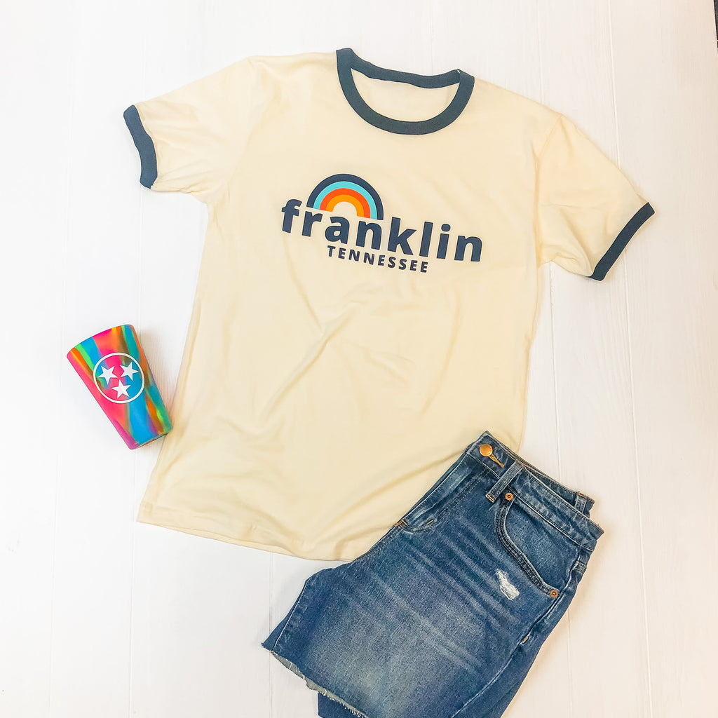 Franklin Rainbow Ringer Tee
