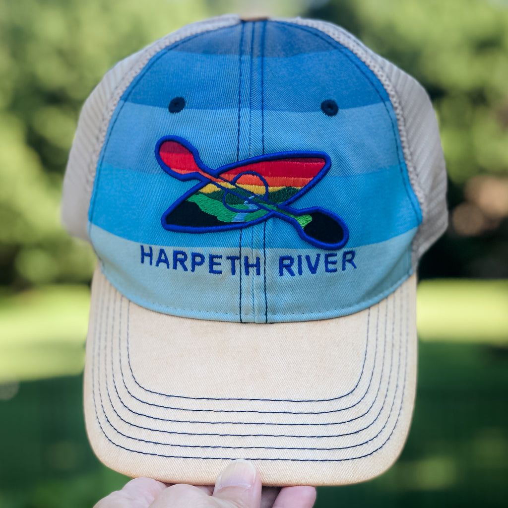 Harpeth River Blue Stripe Kayak Hat