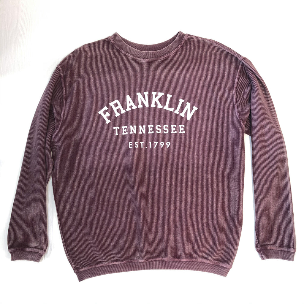 Franklin Corded Sweatshirt Maroon