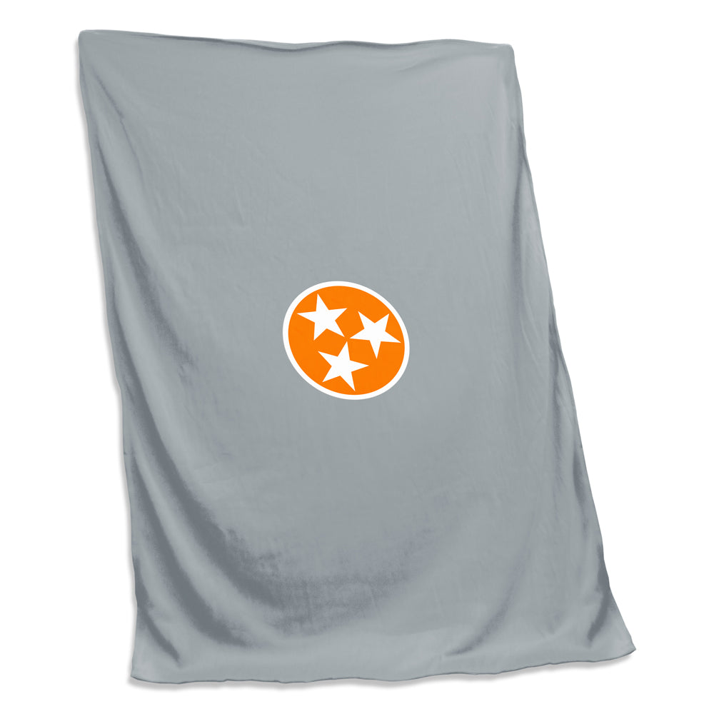 TN Tri Star Sweatshirt Blanket - Grey/ TN Orange