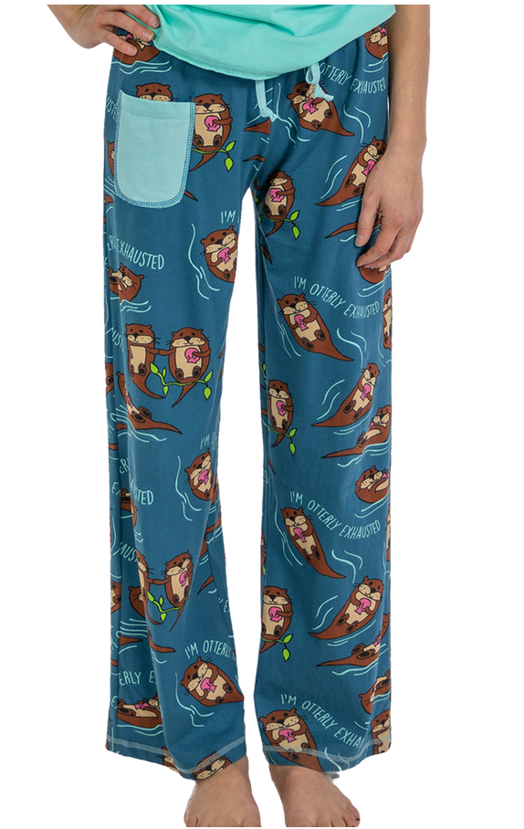 Otterly Exhausted PJ Pants