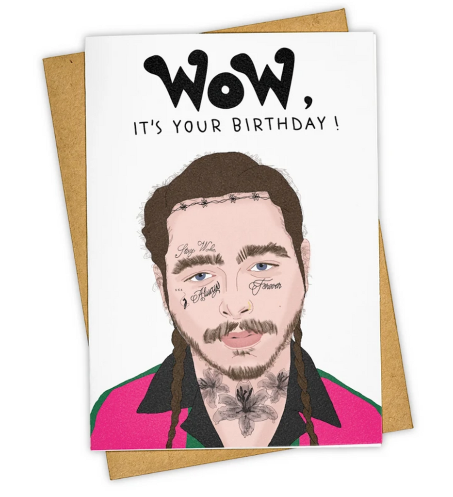 Wow! Post Malone Birthday Card