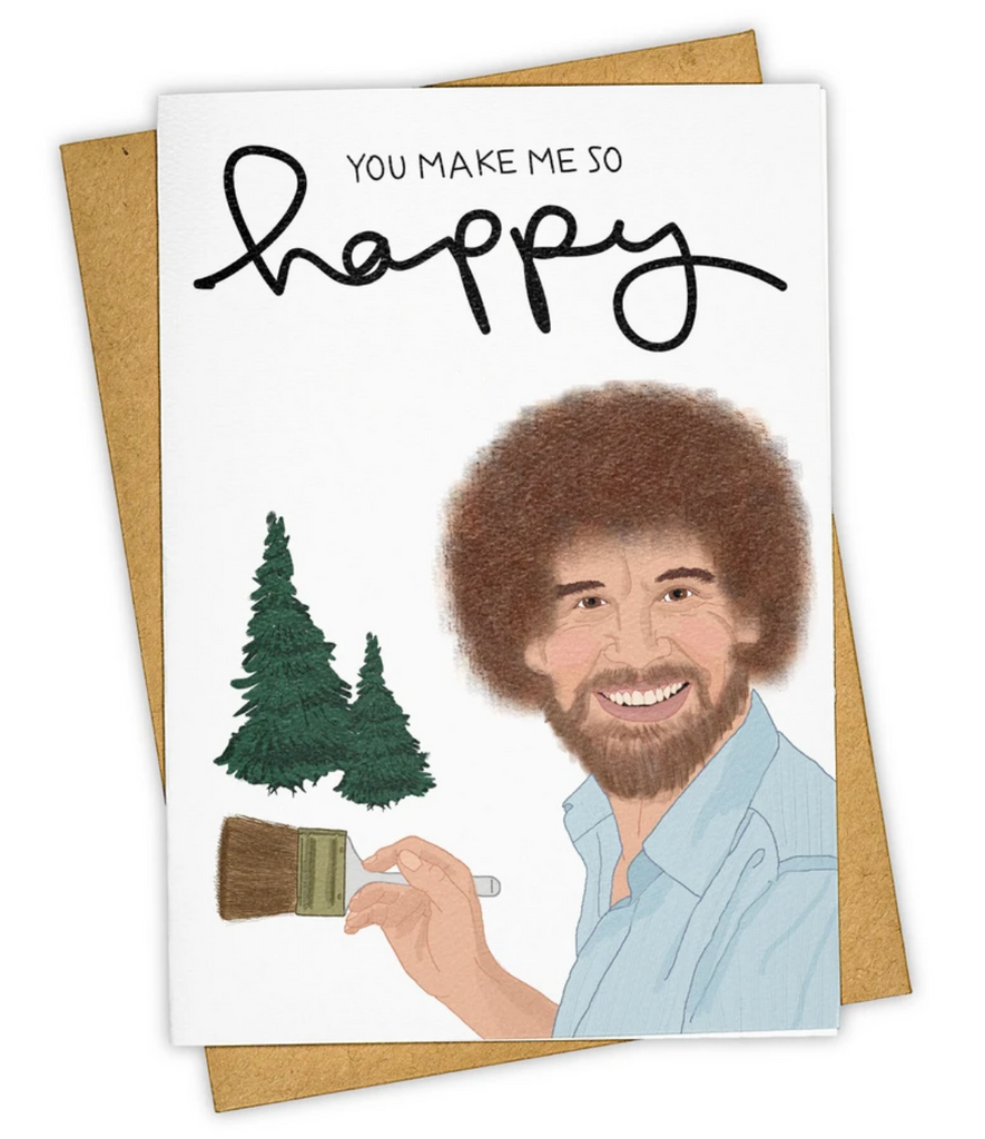 Happy Bob Ross Greeting Card