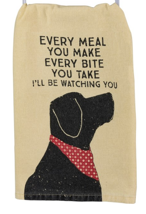 Every Bite I'll Be Watching You Tea Towel
