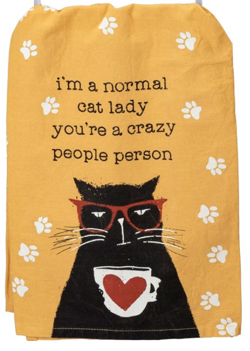 Normal Cat Lady Tea Towel