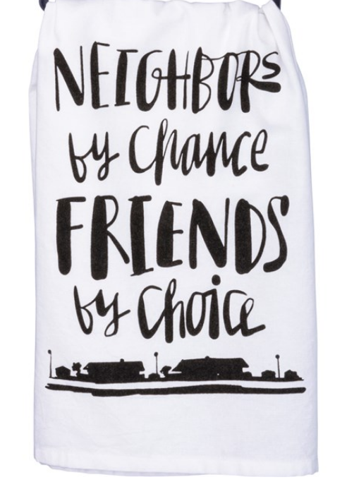 Neighbors Tea Towel