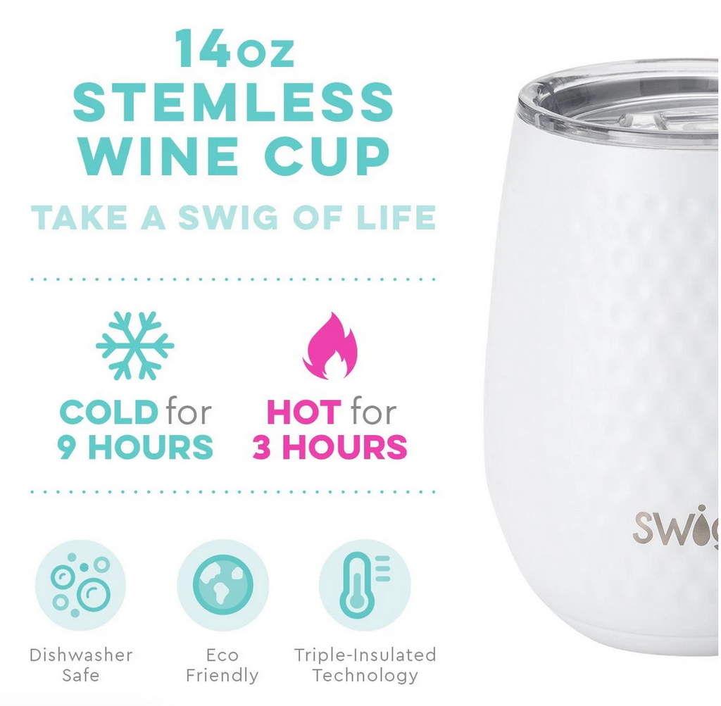 Swig Golf Par-Tee 14oz Stemless Wine Cup