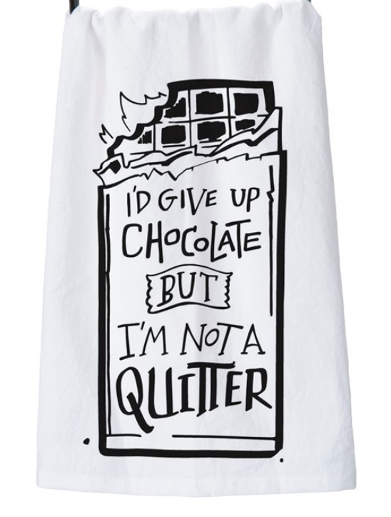 Giving Up Chocolate Tea Towel