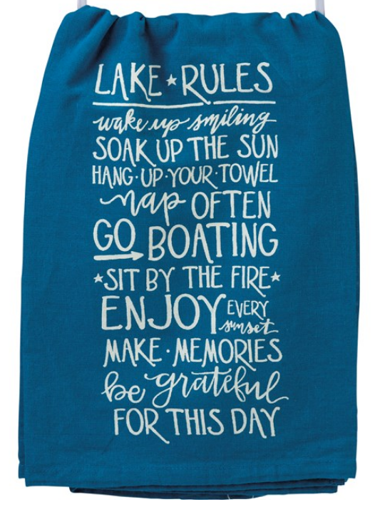 Lake Rules Tea Towel