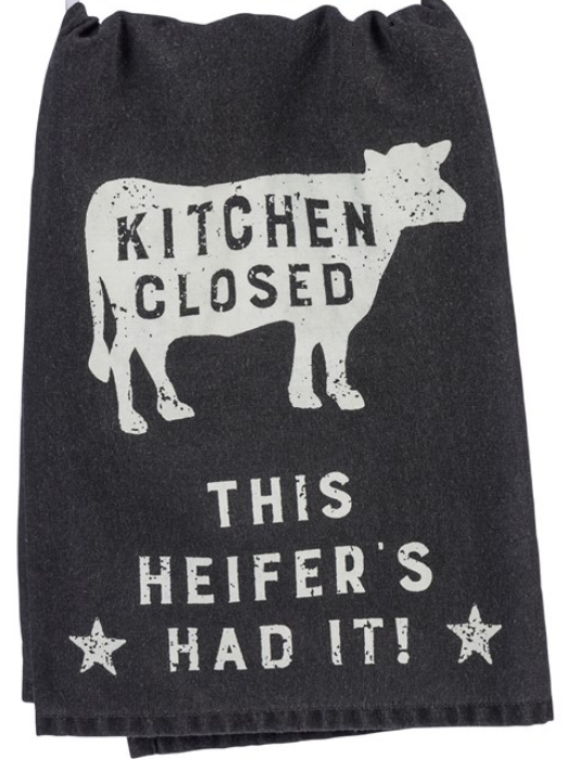 Kitchens Closed Tea Towel