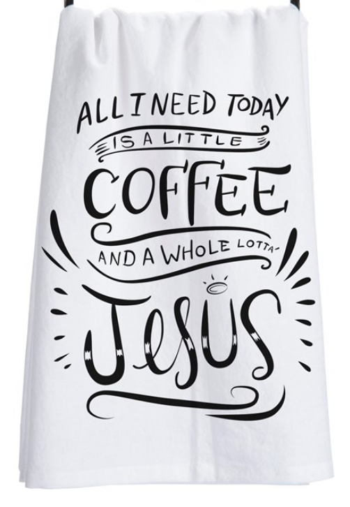Coffee & Jesus Tea Towel