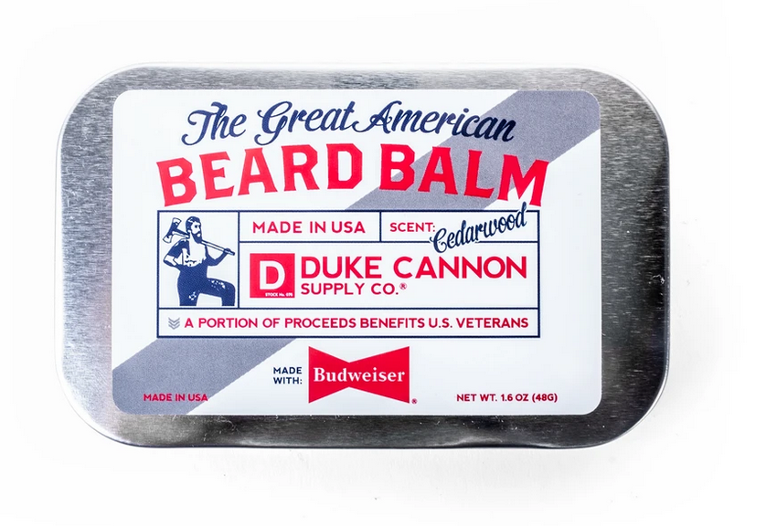Duke Cannon- Great American Beard Balm - Made with Budweiser