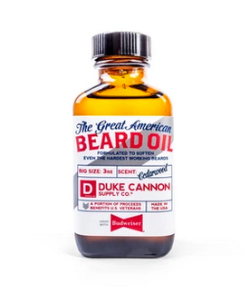 Duke Cannon- Great American Beard Oil - Made with Budweiser