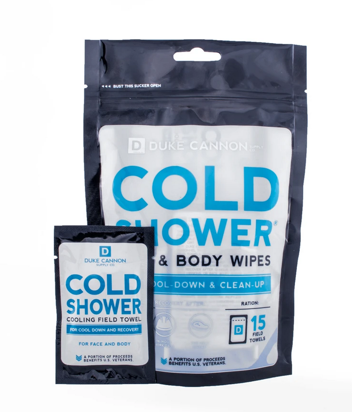 Duke Cannon-Cold Shower Cooling Field Towels Multipack Pouch