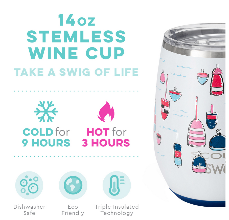 Swig Buoy Oh Buoy by Scout 14oz Stemless Wine Cup