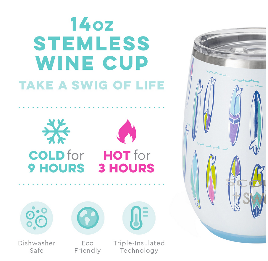 Swig Pipedream by Scout 14oz Stemless Wine Cup
