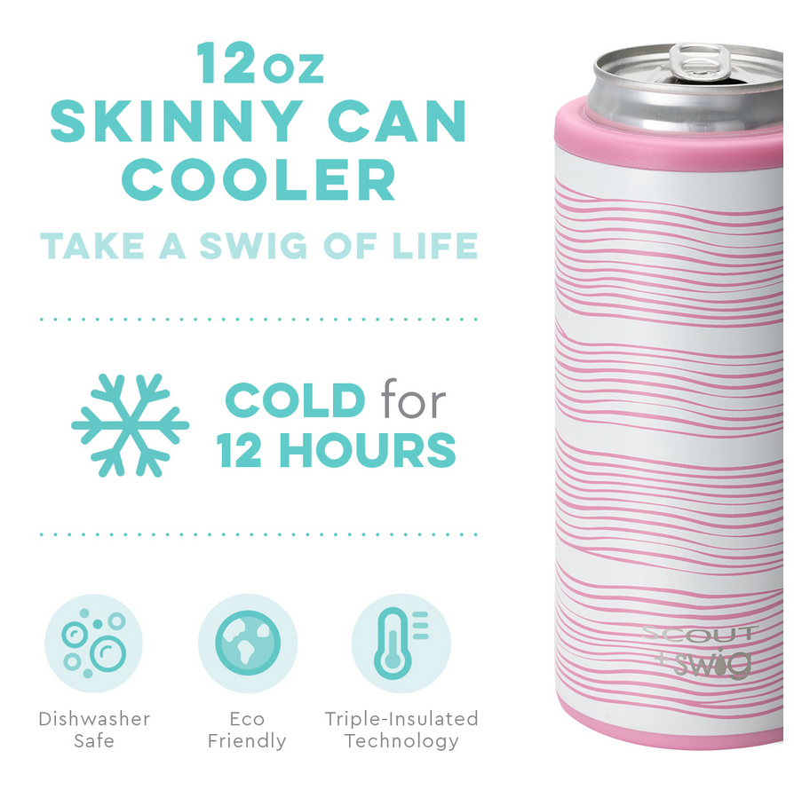 Swig 12oz Skinny Can Cooler Wavy Love by SCOUT