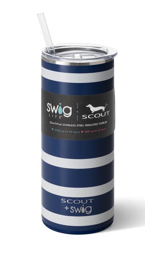 Swig 20oz Tumbler Nantucket Navy by SCOUT
