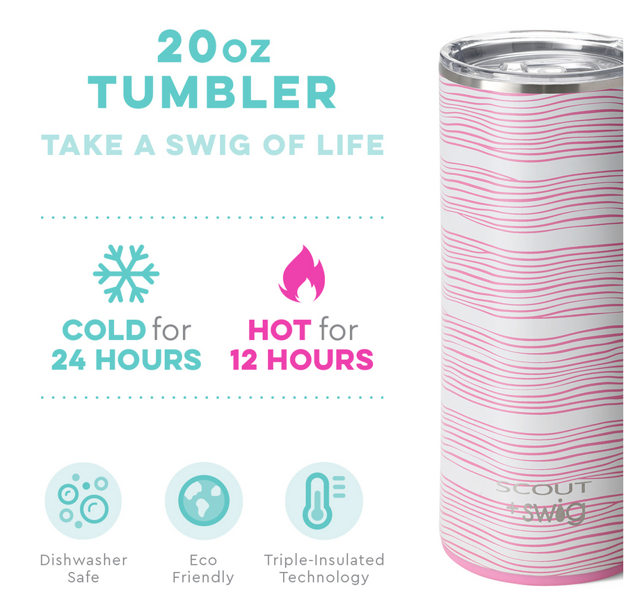 Swig 20oz Tumbler Wavy Love by SCOUT
