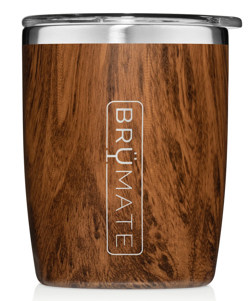 BruMate 12oz Rocks Tumbler Walnut